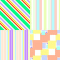 Set of colorful seamless patterns with geometric elements Royalty Free Stock Photo