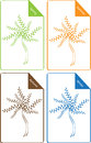 Set colorful seasonal symbols tree spring summer autumn winter silhouette isolated white background Royalty Free Stock Image