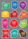 A set of colorful shapes cutout with area for own text vector illustration Royalty Free Stock Images