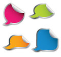 Set of colorful speech bubble stickers Royalty Free Stock Photos