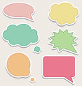 Set of colorful speech bubbles or clouds Stock Photo