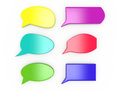 Set of colorful speech bubbles on white d Stock Photos