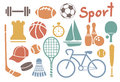 Set colorful sport icons Royalty Free Stock Images