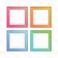Set of colorful square frames.