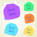Set of colorful sticky memo notes Stock Photo