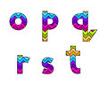 Set of Colorful Striped Lowercase Alphabets Part 3