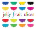 set of colorful fruit jelly slices. vector Royalty Free Stock Photo