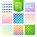 Set of colorful template for a business card, banner, poster, notebook, invitation with modern hand drawn ink grunge Royalty Free Stock Photo