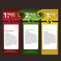 Set of Colorful Text Box Royalty Free Stock Photography