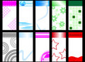 Set of colorful vertical cards Stock Images