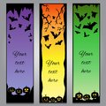 Vertical Halloween headers with black elements and gradient background Royalty Free Stock Photo