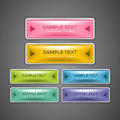 A set of colorful web buttons for website design purpose Stock Photo