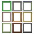 Set of Colorful Wooden Frames