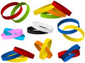 Set of colorful wristbands Royalty Free Stock Photography