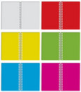Set of colour notepad Stock Photos