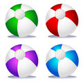 Set of coloured beach balls Stock Images