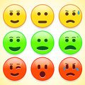 Set of colourful emoticon icons vector illustration Stock Photos