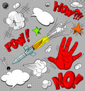 Set of comic book explosions Royalty Free Stock Photo