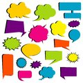 Set of comic bubbles. Speaking and thinking elements for communication in comics. Vector.