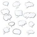 Set of comic 3d speech bubbles icon. Thought bubble Vector image Eps