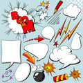 Set of comic elements Royalty Free Stock Image