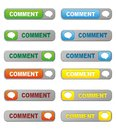 Set of comment button suitable for user interface Stock Images