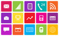 Set of communication and media icons vector illustration Royalty Free Stock Photo