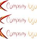 Set of Company Logos. Royalty Free Stock Photography