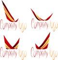 Set of Company Logos. Stock Photos