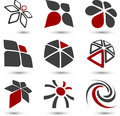 Set of Company symbols. Royalty Free Stock Photo