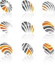 Set of Company symbols. Royalty Free Stock Photo