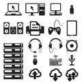 Set computers hardware icons vector illustration Stock Photo