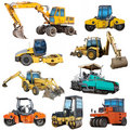 Set of construction machinery Royalty Free Stock Photo