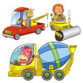 Set Of Construction Vehicle An...