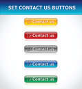 Set Contact Us Buttons Stock Photos