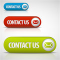 Set of contact us buttons Stock Image