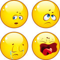 Set of cool emoticons. Royalty Free Stock Photo