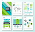 Set of corporate business stationery brochure templates with infographics elements. Abstract geometric background for