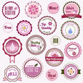 Set of cosmetic badges, labels and stickers Royalty Free Stock Photo