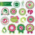 Set of cosmetics badges and labels Royalty Free Stock Image