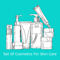 Set of cosmetics for skin care Royalty Free Stock Images