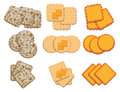 Set of cracker chips. vector Royalty Free Stock Photo