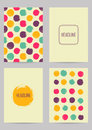 Set of creative ink cards Royalty Free Stock Photo