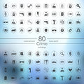 Set of crime icons Royalty Free Stock Photo