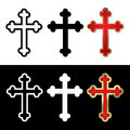 Set of crosses vector illustration Royalty Free Stock Image