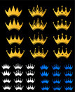 Set of crown Royalty Free Stock Image