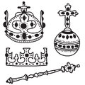 Set of  crown jewels Stock Photography