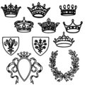Set of crowns Stock Photography