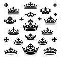 Set of crowns Stock Photo