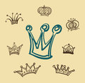 Set of crowns background Stock Photography
